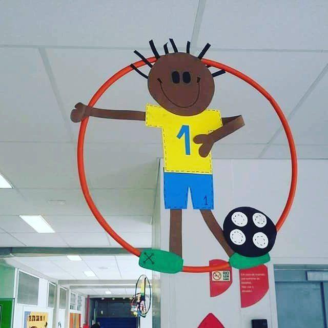 Com as Olimpíadas chegando, muitos farão suas EBF'S com esse tema. Fica a dica para decoração! #eb - ideiasministerioinfantil