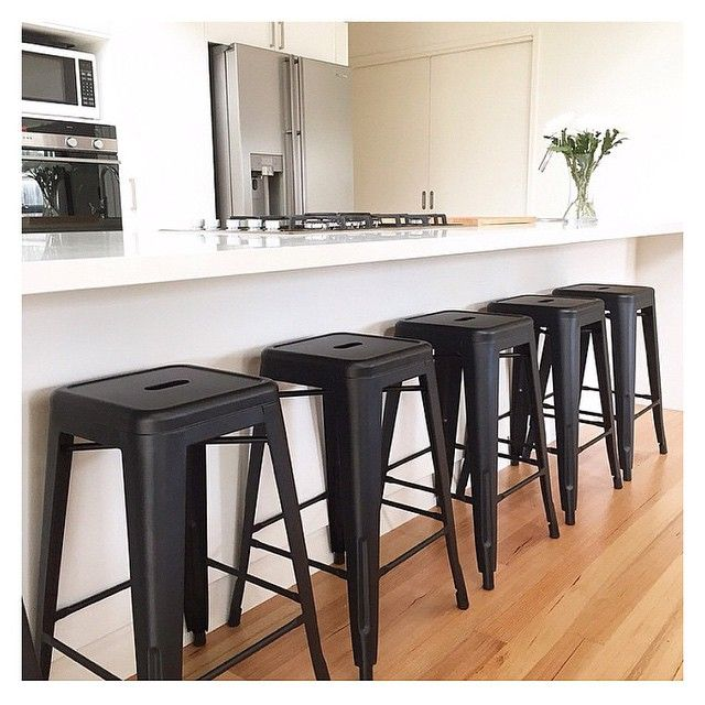 #regram From @swafd Featuring The Kmart Black Bar Stools. They Suit This  Kitchen