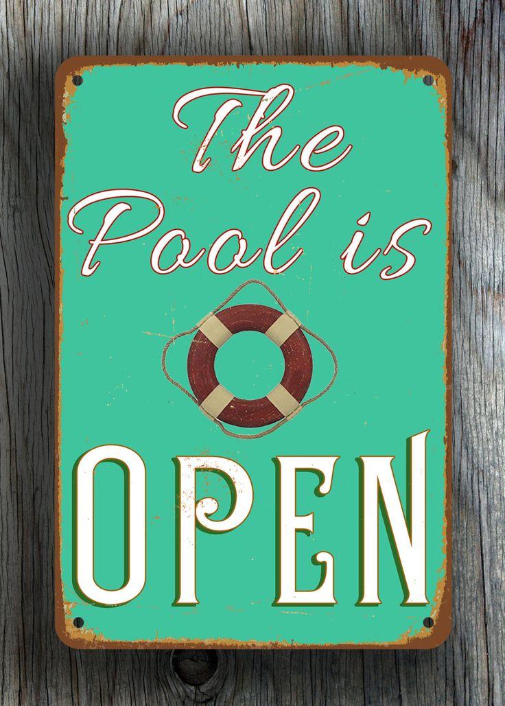 27 best Pool Signs images on Pinterest | Metal panels, Metal signs ...