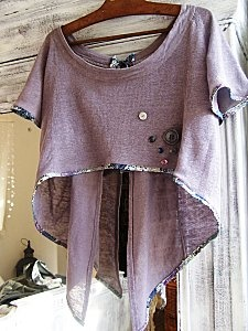 Repurpose t-shirts for over tank dresses.