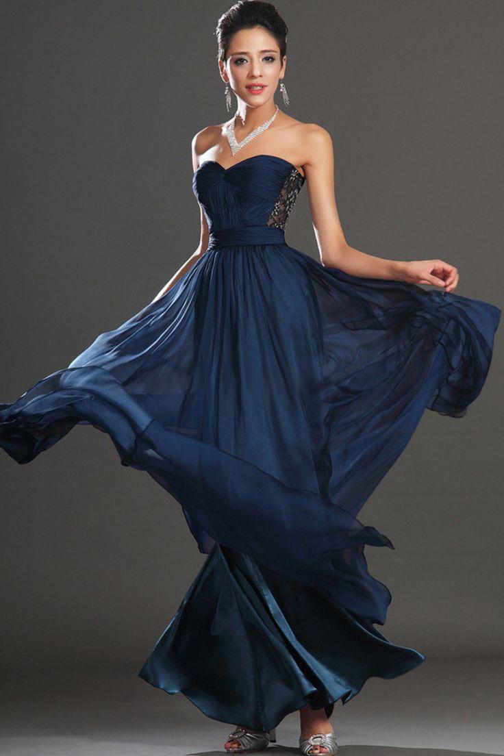 2015 Enchanted Prom Dress Sweetheart A Line Floor Length Chiffon And Lace USD 136.99 EPP5LYL936 - ElleProm.com