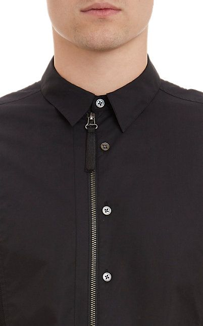 Helmut Lang Mesh Panel Short-Sleeve Shirt - Casual - Barneys.com
