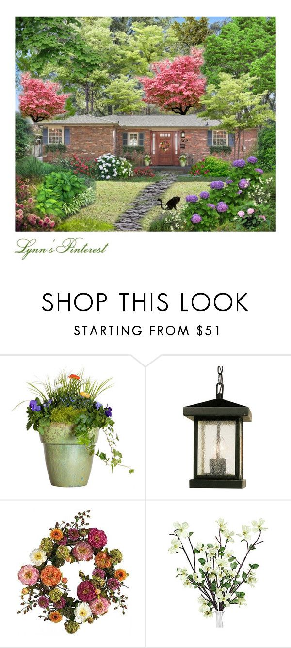 """Waiting For Spring 33  2017 -  #4258"" by lynnspinterest ❤ liked on Polyvore featuring interior, interiors, interior design, home, home decor, interior decorating, Ash, Craftsman, Jayson Home and Trans Globe Lighting"