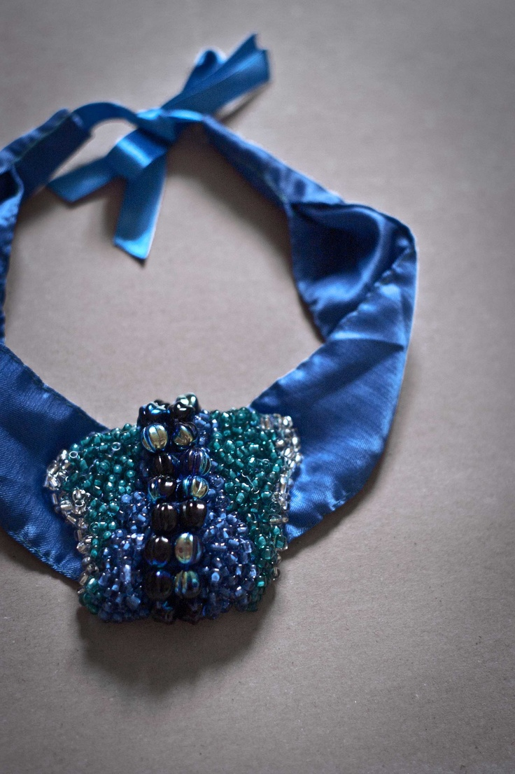 satin beads necklace