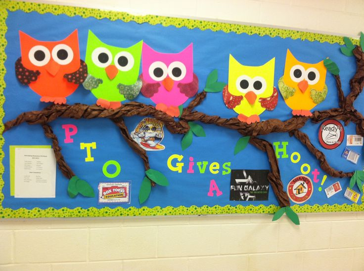 PTO bulletin board - Love this one. It really pops with color!
