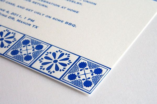 Mexican Talavera inspired Wedding Invites