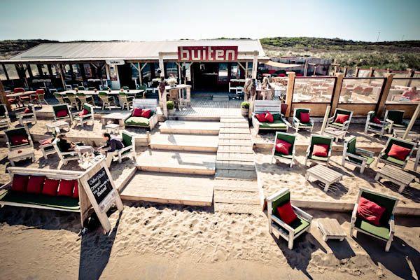 Strandtent BUITEN, lekker buiten de drukte, een heerlijke plek. Strandtent Scheveningen.