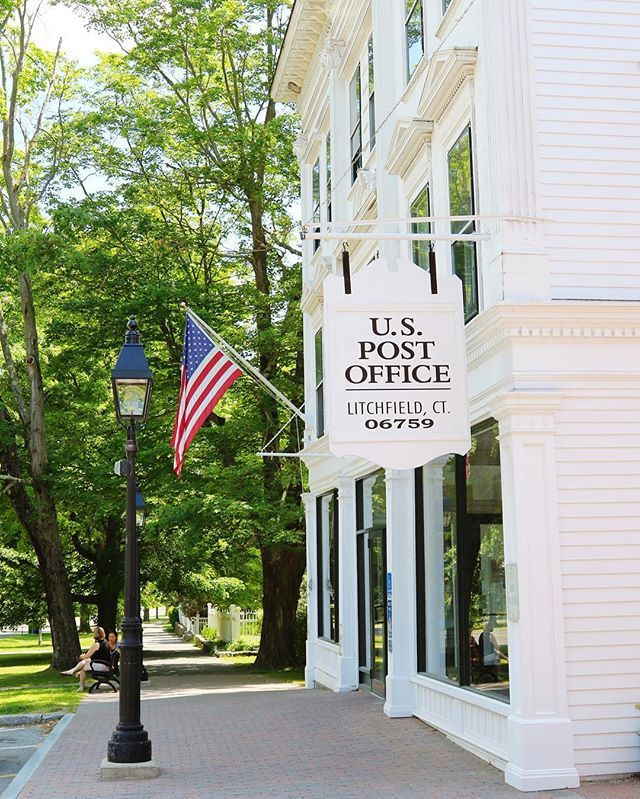 Oh, hello, super adorable Litchfield, Connecticut post office!