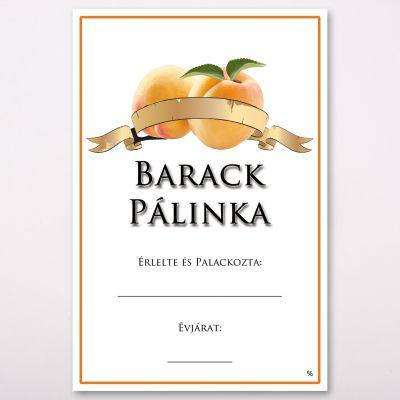 Pálinka címke Barack - Csabazár webáruház csabazar.hu - Öltöztesd fel kedvenc italaid egyedi stílusba. Címkézd fel palackjaidat, még most. #egyedipalinka #palinkacimke
