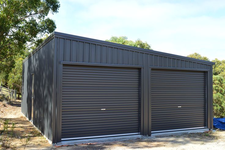 Skillion Double Garage  For Quotes please email: sales@allshedsolutions.com.au