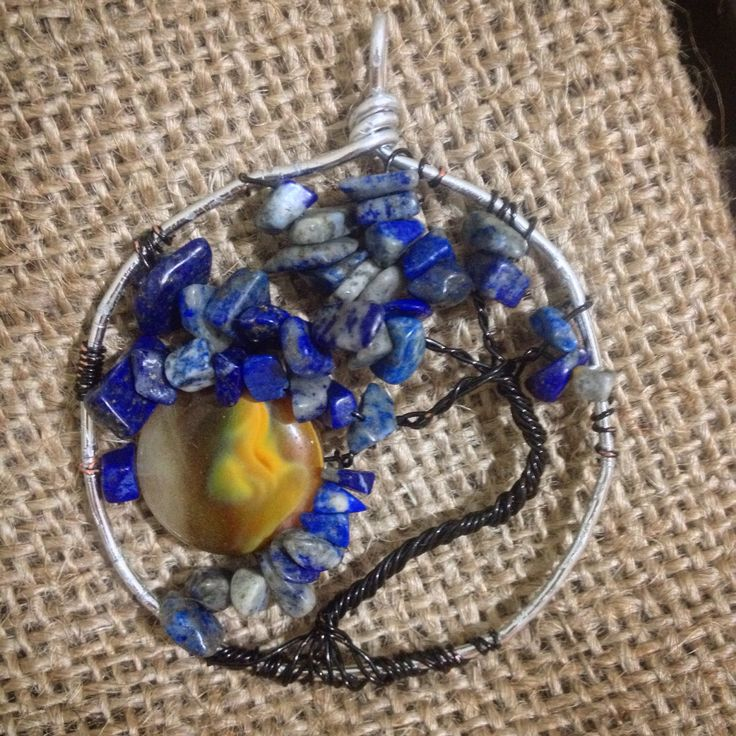 Lapis lazuli tree of life pendant