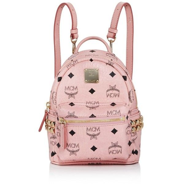 Mcm Stark Side Stud Mini Backpack ($710) ❤ liked on Polyvore featuring bags, backpacks, studded backpack, miniature backpack, rucksack bags, mcm bag and mcm backpack