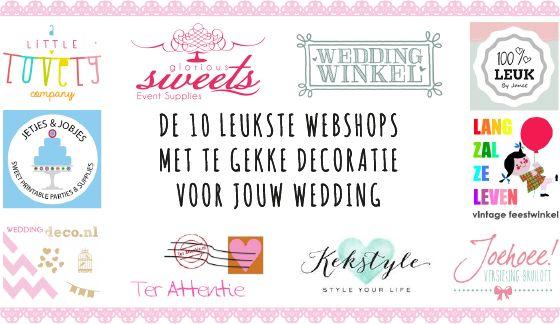 De 10 leukste webshops met decoratie voor je bruiloft - Pinterested @ http://wedspiration.com.