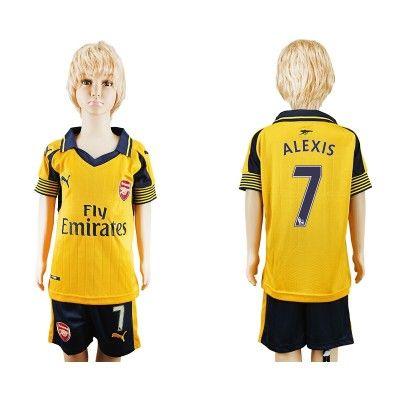 Arsenal Fodboldtøj Børn 16-17 Alexis Sanchez 7 Udebane Trøje Kortærmet.  http://www.fodboldsports.com/arsenal-fodboldtoj-born-16-17-alexis-sanchez-7-udebane-troje-kortermet.  #fodboldtrøjer