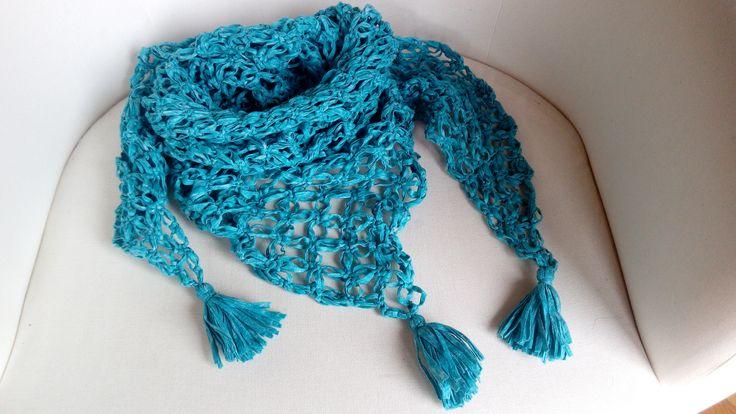 Xal de ganxet amb fil Vintage ( crochet )