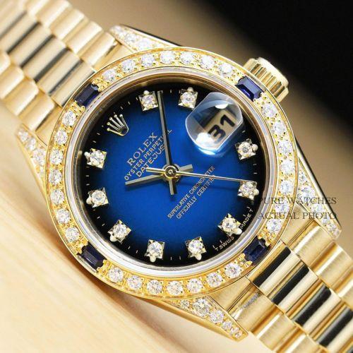 Ladies Rolex Presidential Watch. Diamond Dial, Diamond Bezel, Diamonds on Lugs .