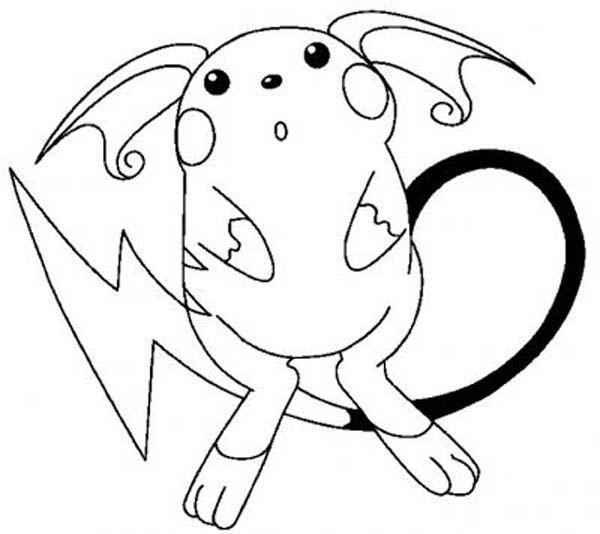 Pikachu coloring pages raichu | Pokemon malvorlagen, Pokemon ...