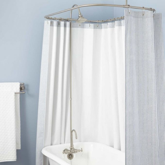 Gooseneck Clawfoot Tub Shower Conversion Kit In 54 X 28 Shower