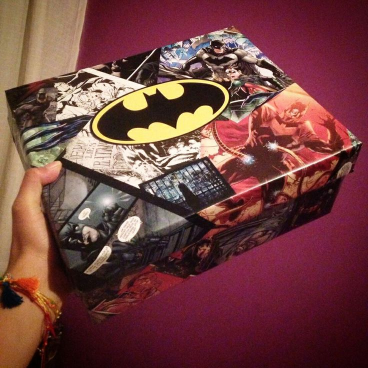 Caja de regalo! #batman #sorpresa #diy