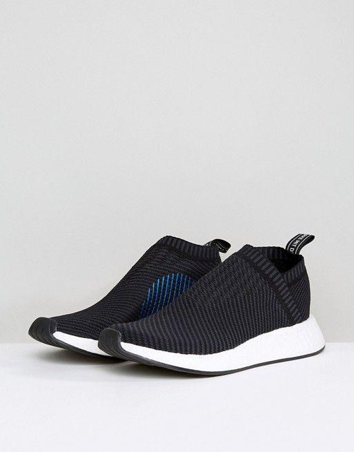 da4d0cc69 adidas Originals NMD CS Primeknit Sneakers In Black CQ2372