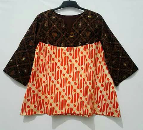 my project: batik tunic made from batik solo sidoluhur and parang motif
