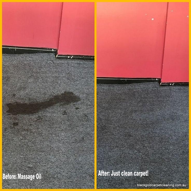Massage Oil stain on commercial carpet