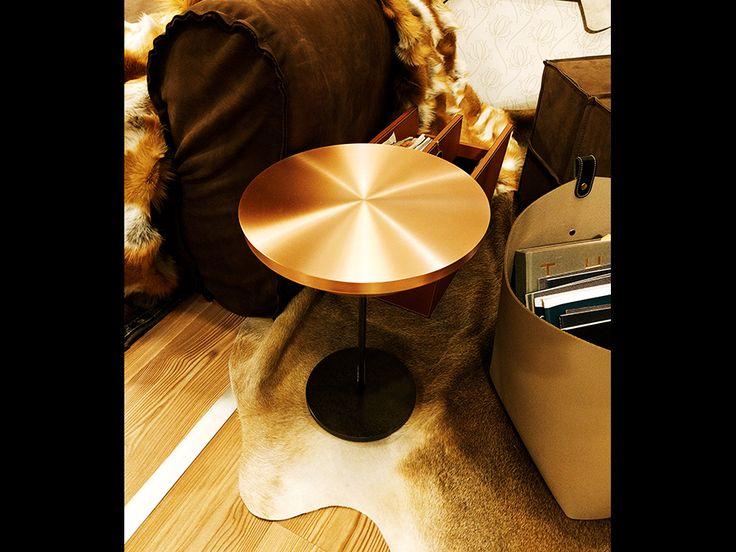 Fur Deco | copper side table  #sidetable #copper #metal #handmade #decoration #interiors