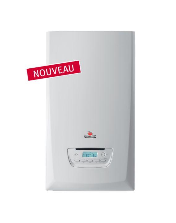 ThemaFast Condens  La chaudière ThemaFast Condens est une chaudière murale gaz à condensation qui répond aux exigences de la réglementation ErP. Idéale pour un chauffage performant et un besoin d'eau chaude immédiat.