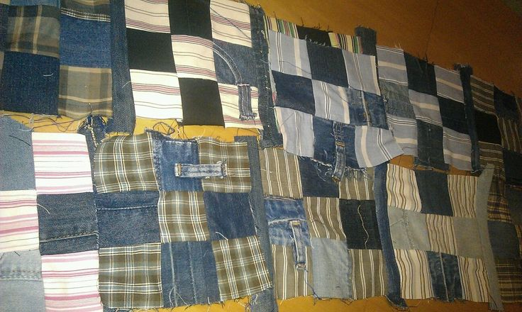 Half-lived shirts and denim living their other half-life in a quilt