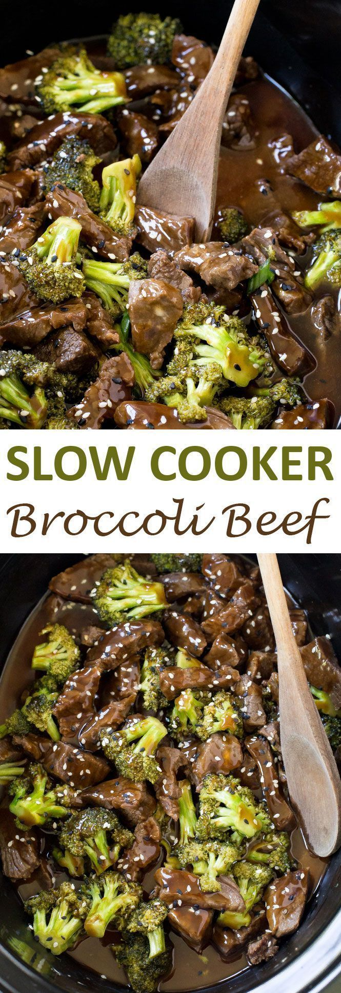 Slow Cooker Broccoli Beef. Super tender steak cooked low and slow for 5 hours!