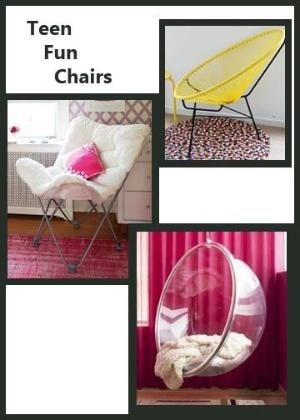 Ideas for teen bedroom furniture some of these chairs look really cool and would be fun to have in my room (-: by Maiden11976