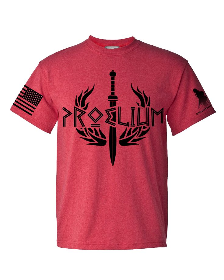 The Proelium T-Shirt. Heather Red