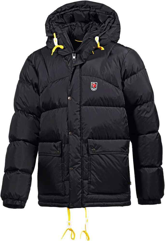 FJALLRAVEN EXPEDITION ARCTIC   MEN S BLACK GOOSE DOWN JACKET PARKA PUFFA    s M   08d75bdbb804