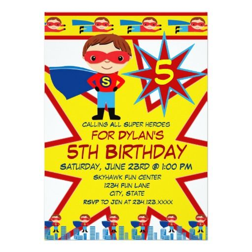 324 best Book Themed Birthday Party Invitations images on – Boys Party Invite