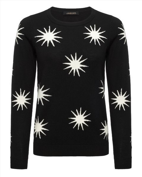 Large Intarsia Star Sweater, £80, Jaeger Outlet