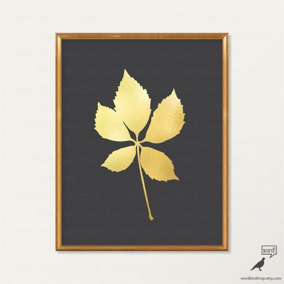 The 55 best Digital Gold Foil Wall Decor images on Pinterest | Gold ...