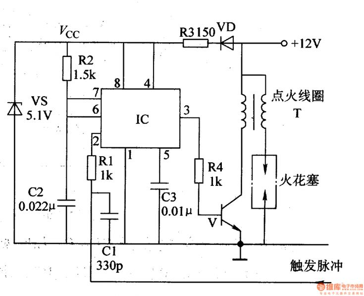10  Motorcycle Electronic Ignition Circuit Diagram