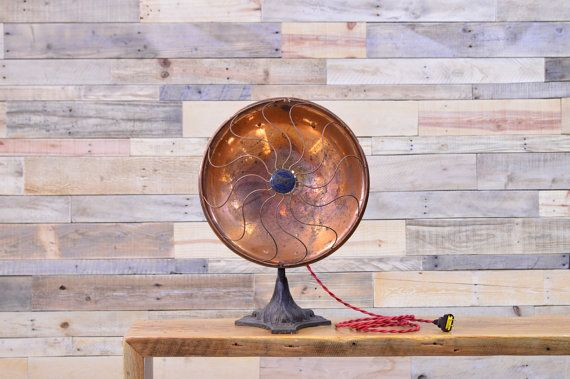 Vintage Copper Lamp 1920s Eagle Electric Heat by ScoutandForge