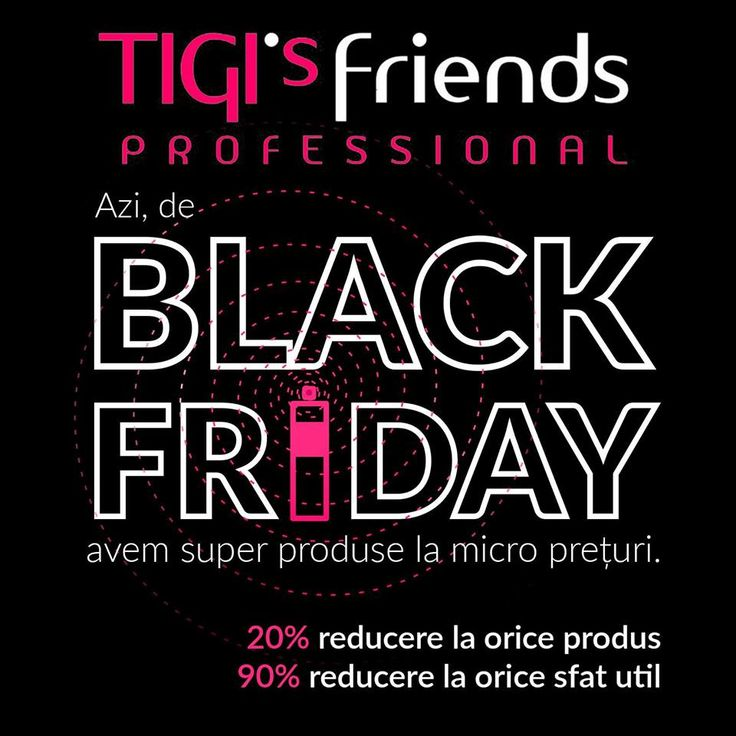 Poster made for Tigi's friends black friday sales by Adwiser.