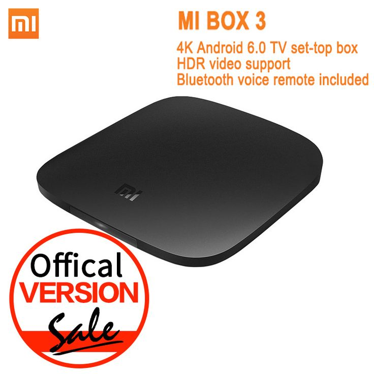 Global Version Xiaomi Mi TV Box 3 Android 6.0 4K 8GB HD WiFi Bluetooth Multi-language Youtube DTS Dolby IPTV Smart Media Player  Price: 75.28 USD