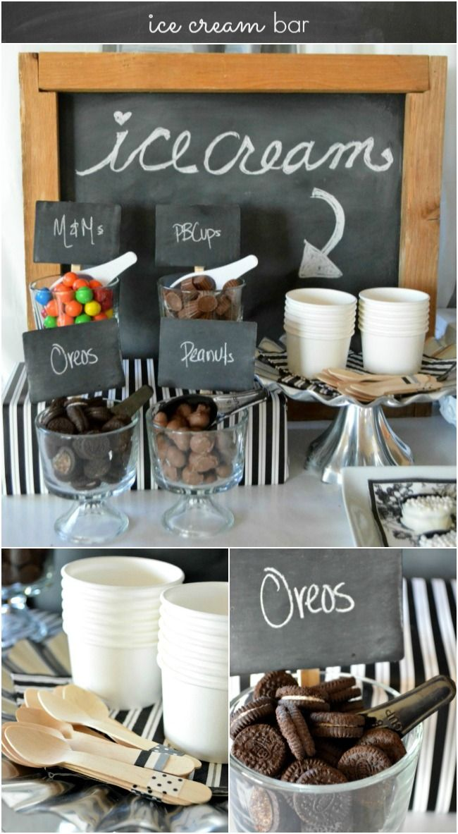 Ice Cream Bar Ideas for an Easy Elegant Dinner Party | A Night Owl for #MarthaCelebrations | #LetsCelebrate