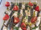 Ψητές σαρδέλες με φρέσκια ρίγανη κάπαρη και ντοματίνια