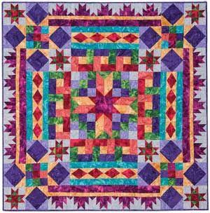 I am falling in love with batiks...  BLOCK BUFFET BALI QUILT KIT