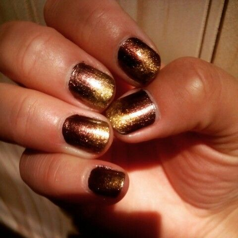 Degradado dorado y cobre