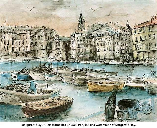 "Margaret Olley - ""Port Marseilles"", 1950"