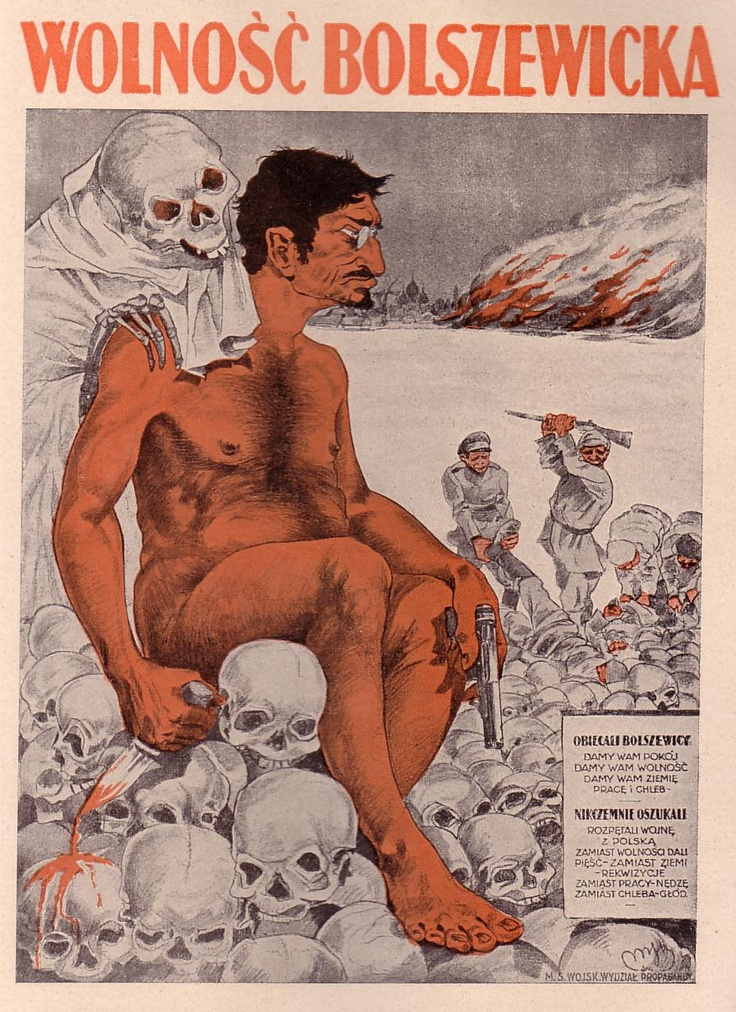 Polish poster depicting Trotsky during the Polish-Russian War of 1920