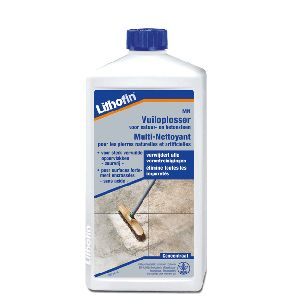 Lithofin MN Vuiloplosser is bedoeld voor het schoonmaken van alle natuursteen als marmer (ook gepolijst marmer), kalksteen en sierbeton. Deze vuiloplosser verwijdert niet alleen vuil en vlekken maar ook oude waslagen en cementsluier. (voor het verwijderen van hardnekkige waslagen kunt u Lithofin Lösefix gebruiken). Na de reiniging is uw vloer weer schoon en fris.
