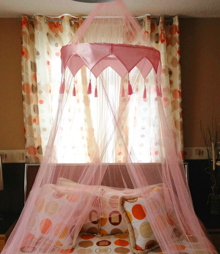 Beautiful Pink Mosquito Fly Canopy Net Netting For Single Double King Size Bed in Home, Furniture & DIY, Bedding, Canopies & Netting   eBay