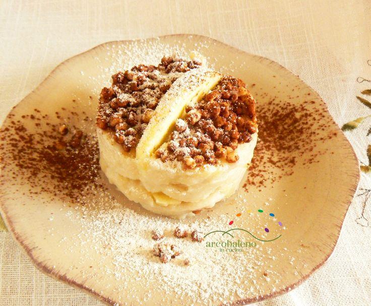 Ricetta Crema vegana di mele guarnita con croccante di Miglio soffiato