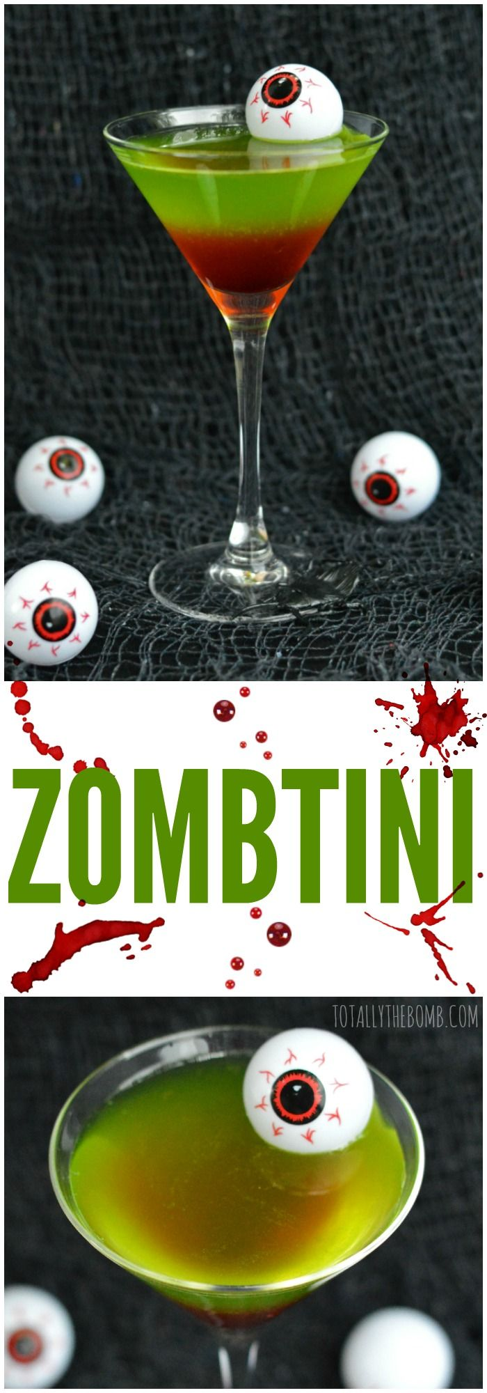 ZOMBTINI PINTEREST 1 oz. Captain Morgan White Rum 2 oz. Dekuyper Melon Liqueur 1 oz. 100% Pineapple Juice 0.5 oz. Sprite Dash of Grenadine (garnish) Ice Cocktail Shaker